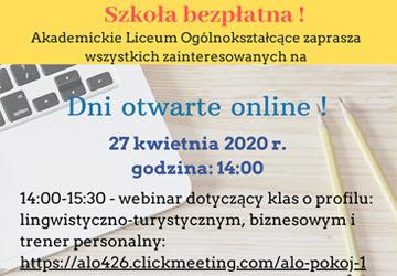 Dni otwarte online