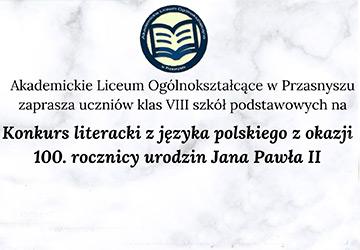 Konkurs literacki z języka polskiego